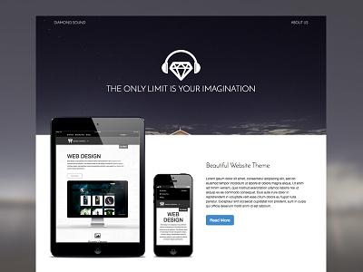 Diamond Sound Theme theme responsive ui design website free theme