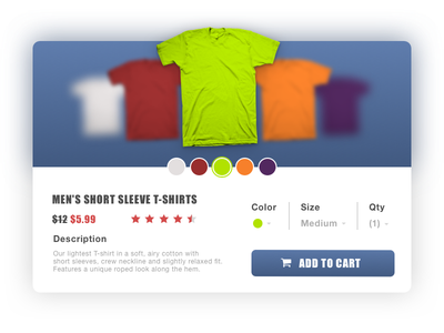 Product Card for T-Shirts ui t-shirts card product