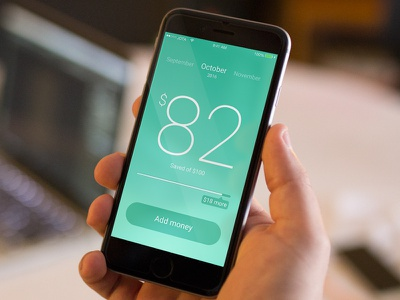 Save Money App UI ios iphone save money ui app