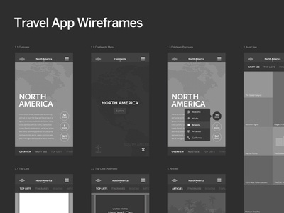 Lonely Planet, Flagship App lonely planet ui design wireframes must see articles map points of interest tourism sightseeing mobile application travel