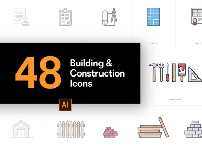 48 Building and Construction Icons