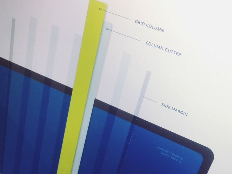 Grid system spec layout system column gutter responsive design ui bootstrap grid