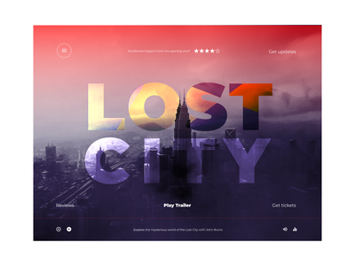 Lost city movie poster movie art movies web design ui design