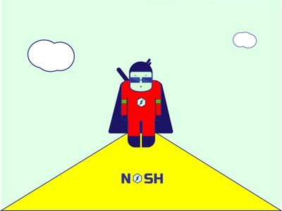 Nash character vector design illustration