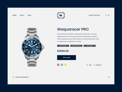 Watch it web design flat design ui