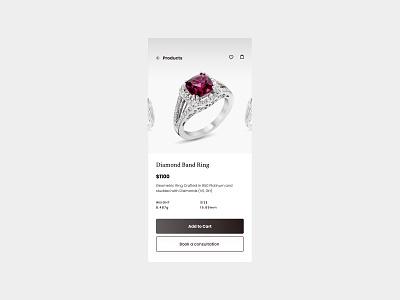 Jewel jewellery flat web design design ui