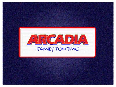 Arcadia ui typography vector logo illustration