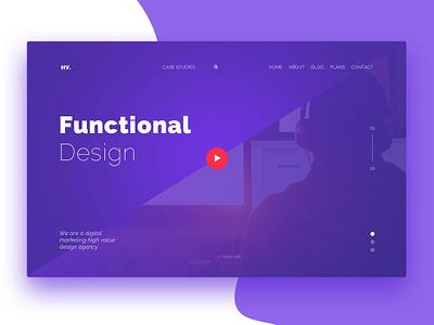 Functional Design clean minimalism flat dark website web design branding ui typography design
