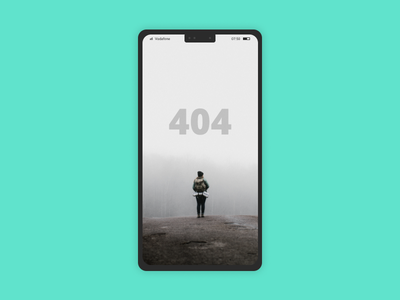 404 app404conceptblack and white