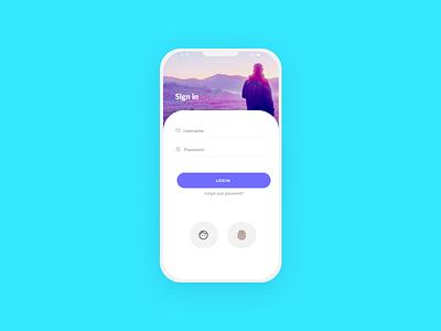 login screen app login ui design