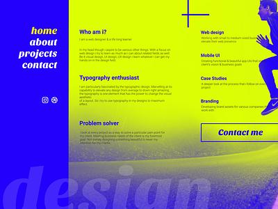 Colorful Portfolio portfolio web design