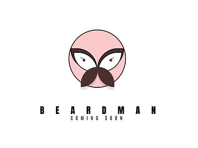Beardman graphic design icon. illustration character design