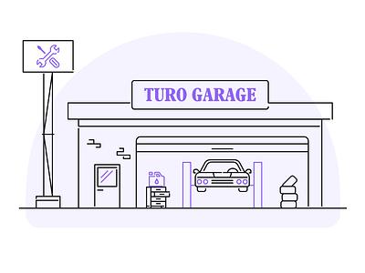 Turo Garage Illustration garage car illustration