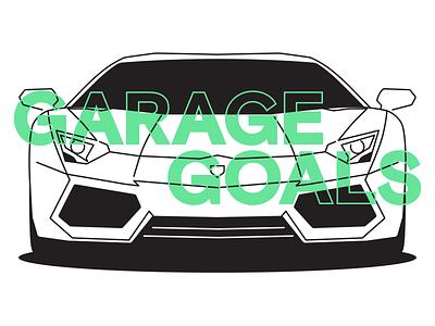 Garage Goals car illustration aventador lamborghini