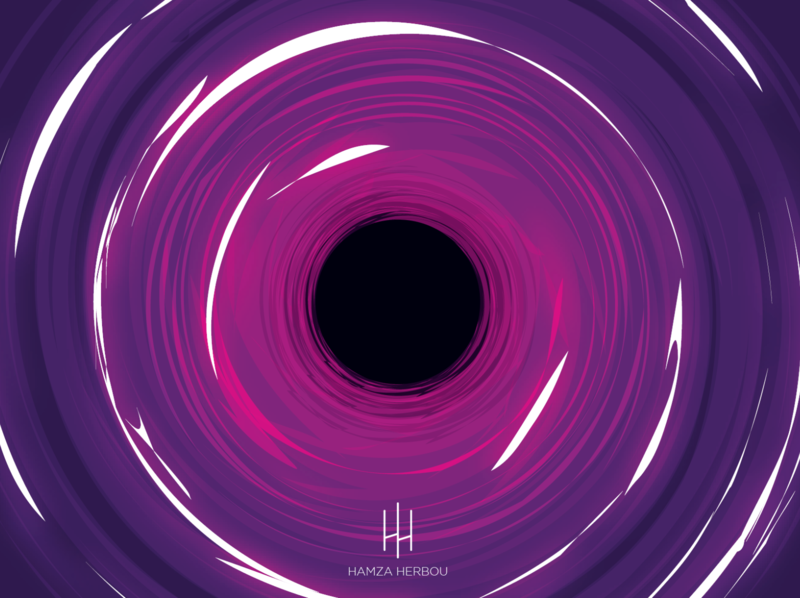 Black Hole: Vector artwork