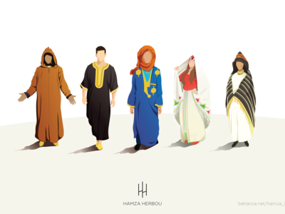 MOROCCAN CLOTH, VECTOR CHARACTERS
