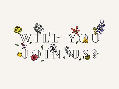 Floral RSVP rsvp illustration invitation wedding flowers pattern