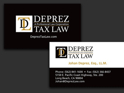 Deprez Tax Law - AA Graphics - Graphic Design Portfolio design business card graphic design