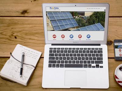 Arzon Solar Website - AA Graphics - Website Design Portfolio website graphic design website design