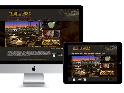 Tequila Jacks - AA Graphics - Website Design Portfolio website graphic design website design