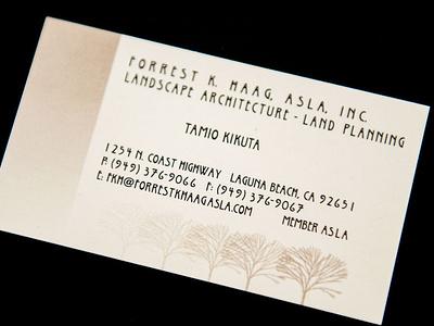 FKH Landscape Architect - AA Graphics - Graphic Design Portfolio corporate identity design business card graphic design