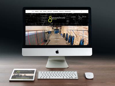 Groundwork Fitness - AA Graphics - Website Design graphic design website design website