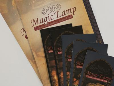 Magic Lamp - AA Graphics - Menu Design graphic menu menu design