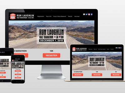 Run Laughlin - AA graphics - Website Design Portfolio design website website design graphic design