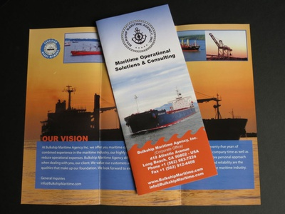 Bulkship Maritime Brochure Design -  AA Graphics flyer design graphics design brochure design brochure design graphic design