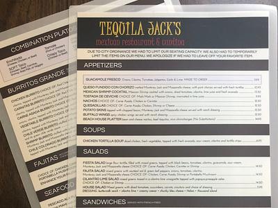 Tequila Jacks - Restaurant Menu Graphic Design Portfolio graphic restaurant menu graphic deisgn menu design menu graphics design design graphic design
