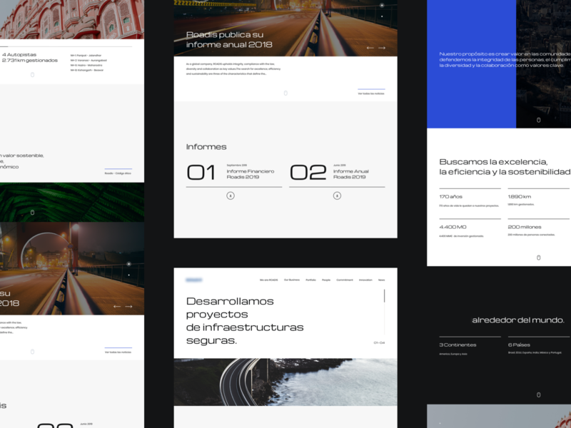 Graphic Lines corporative ux responsive webdesign minimal clean roads web interface ui
