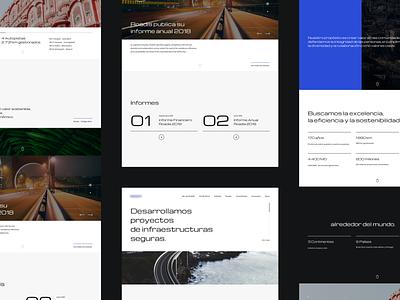 Graphic Lines corporative ux responsive webdesign minimal clean roads web interface ui