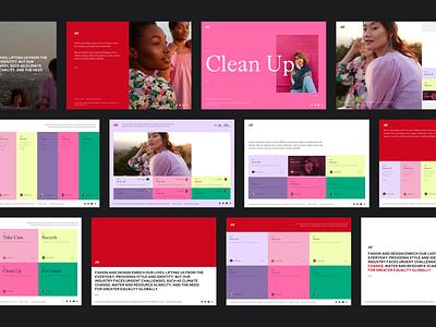 H&M Microsite colors colorful ui fashion campaign fashion responsive interface web