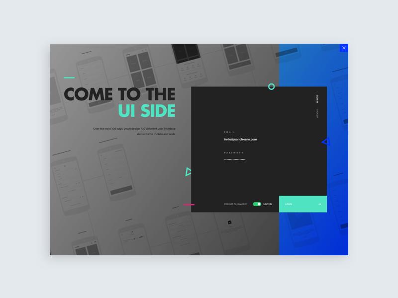 Daily UI challenge #001— Sign Up webdesign design ux modern sign in login interface sign up ui dailyui