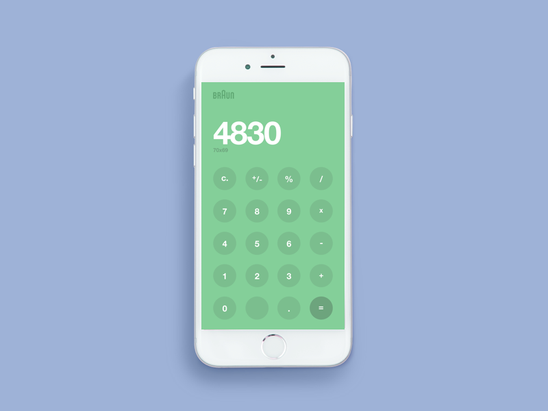Daily UI Challenge #004 - Calculator  minimal clean green numbers user interface mobile app interface ux ui calculator dailyui