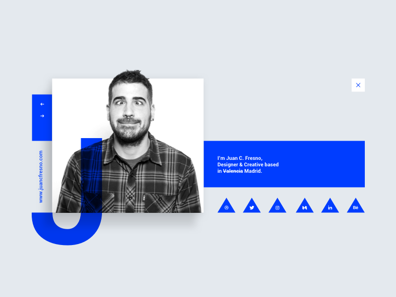Daily UI Challenge #006 - User profile  blue webdesign contact card info userprofile profile user interface ux ui dailyui