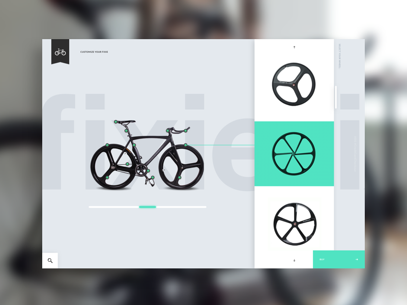Daily UI Challenge #007 - Settings layout userinterface interface clean simple green fixie settings bike ux ui dailyui