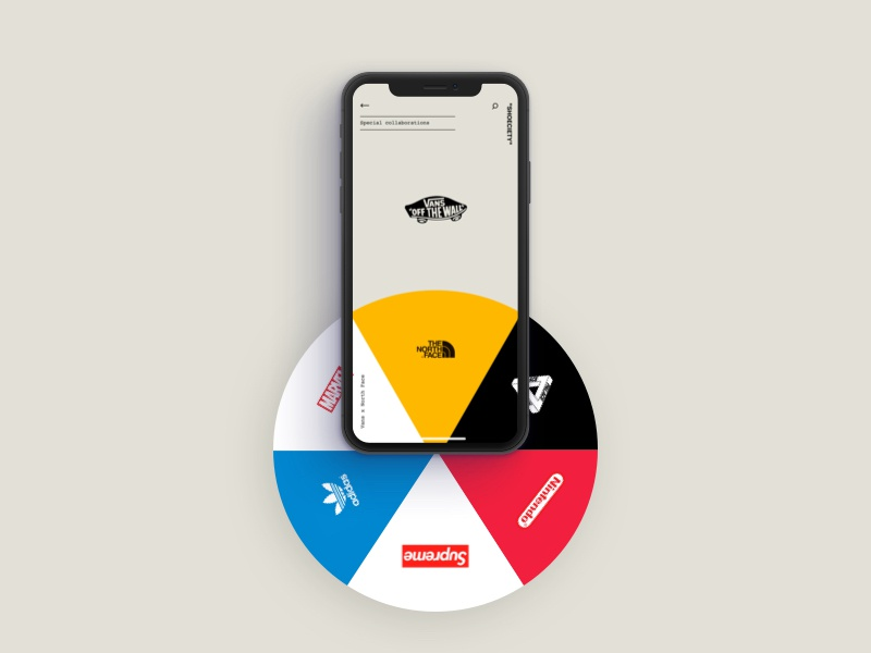 Collaborations - Shoeciety #03 vans product shoe minimal ui interface sneakers collaboration app