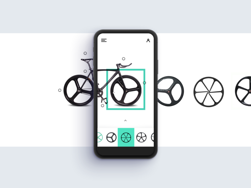 Settings Mobile wheels menu dropdown ui interface settings clean bike app fixie