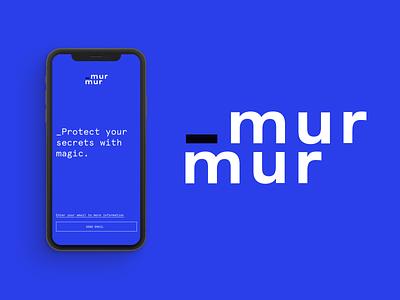 Murmur Branding mark logotipe crypto secrets brand logo digital branding