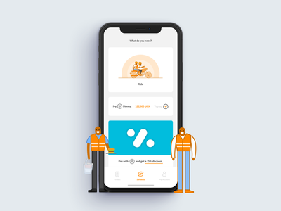 SafeBoda App re-style clean orange colorfull illustrations interface ui re-style rider app