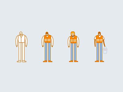 SafeBoda Illustrations interface app safeboda clean rider character ui illustration