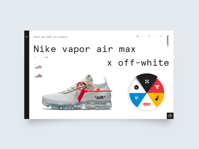 Daily UI Challenge #033 - Customize Product white minimal shoes web design sneakers clean ui product customize 033 daily ui