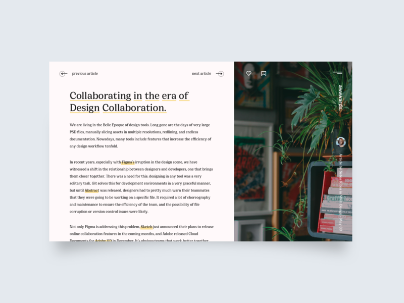 Daily UI Challenge #035 - Blog Post ux ui interface daily ui challenge minimal clean post blog 035 daily ui