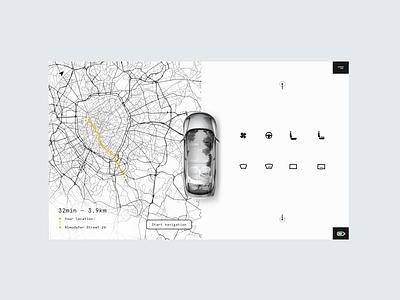 Daily UI Challenge #034 - Car Interface ui design bw minimal modern clean ui interface car interface car