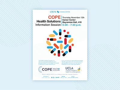 Cope Health Information Session Flyer event education information graphic graphic design flyer design branding