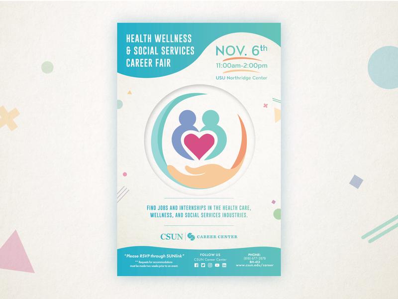 Health, Wellness, and Social Services Career Fair Flyer