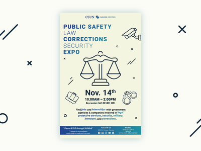 Public Safety, Law, Corrections, Security Expo Flyer adobe typography education illustration graphic design design branding