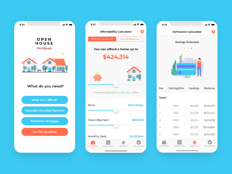 Mortgage app for iOS mobile design real estate app real estate mobile app mobile ui app design ios design ios ui mortgage ios app
