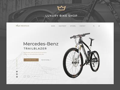 Luxury Bike Shop e-Commerce Concept photoshop figma bike website website design webdesign luxury website luxury design luxury brand bike shop e-commerce
